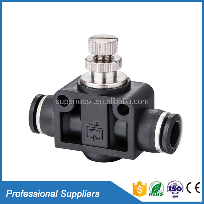 Air compressor check valve manual plastic mini pneumatic variable flow control valve