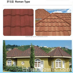 High quality new coming color sand coated metal roof tile