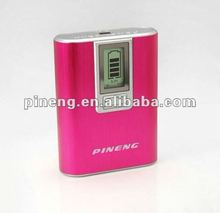 High quality pineng usb rechargeable rohs power bank 5600mah with lcd display