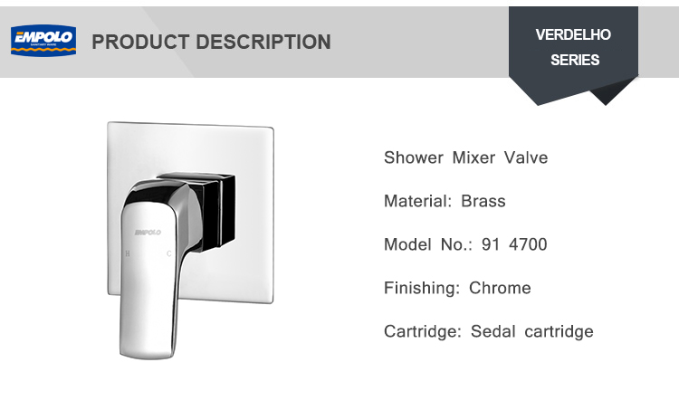 Modern Wall Mount Bath Faucet in Chrome Finish Concealed Brass Shower Faucet Tap Valve