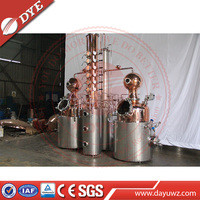 Copper Alcohol Distillation Equipment For Whisky