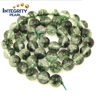Round 6 8 10 12mm,wholesale loose gemstone ghost green jade stone strands