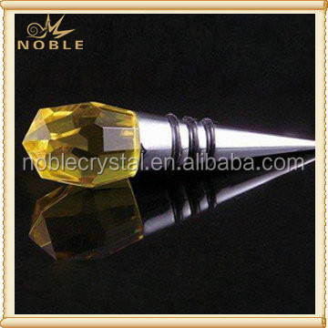 Noble Personalized Yellow Crystal Wine Bottle Stoppers