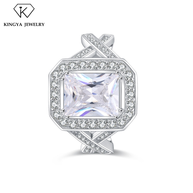Engagement Artificial Diamond Drill Bit Ring Price 5925 Silver Jewelry
