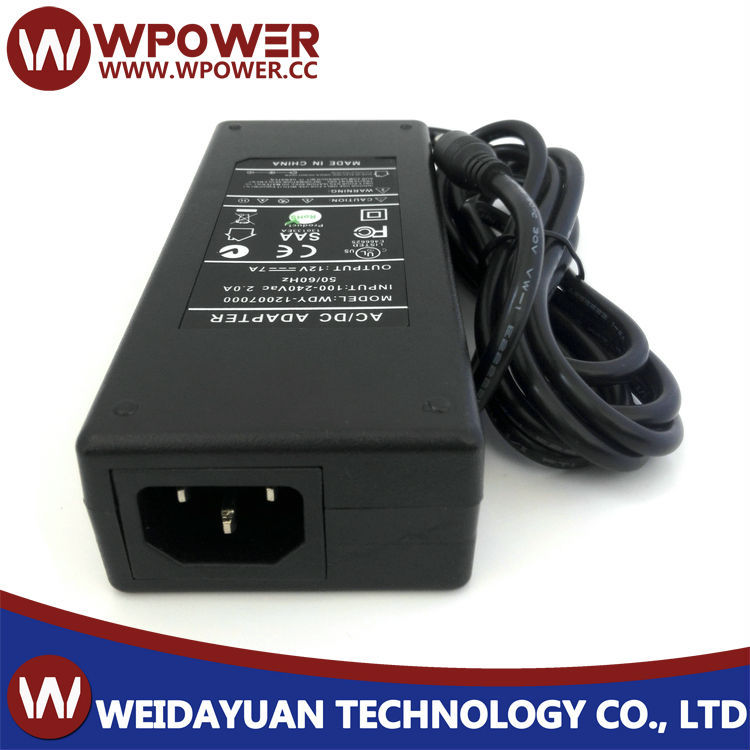 AC/DC 12V 7000mA power adapter ac dc 12v7a switching power supply adapter