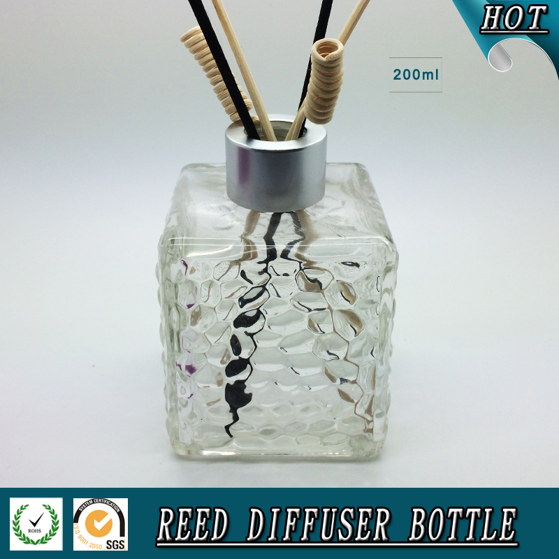 200ML square glass reed diffuser bottle
