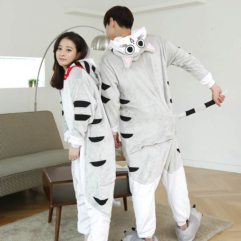 Adult One Piece Coral Fleece Party Costumes Pajamas With Butt Flap From Online Store
