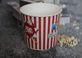 Customized Disposable Hign Quality popcorn Paper Cup , cheap popcorn paper cup
