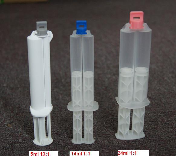 high quality 1:1 disposable dual barrel syringe for epoxy resins