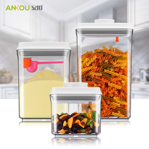 Online Shopping Top Push Button Stackable White Airtight Food Plastic Storage Container For Uk Canada India And More
