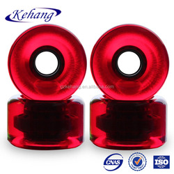 Best quality PU pink clear longboard wheels 65mm for cruising guangzhou