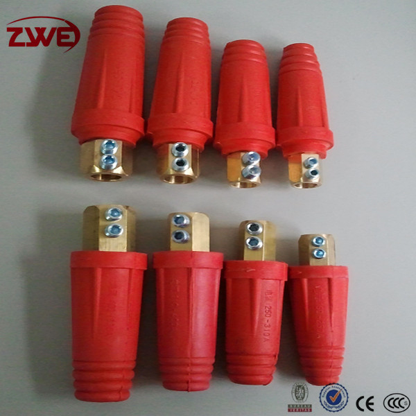 Red and Black CE,CCC Certificate Welding Cable Connectors