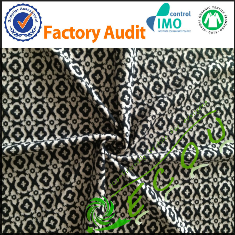 wholesale tr polyester/cotton jacquard fabric knitted for clothing