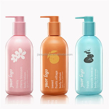 silk screen printing 300ML Plastic Body Lotion Bottle /Hair conditioner bottle for skincare