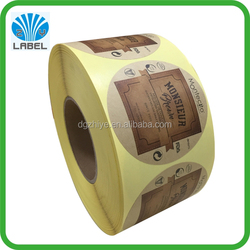 2016 cosmetic label kraft paper sticker vinyl label custom sticker round label