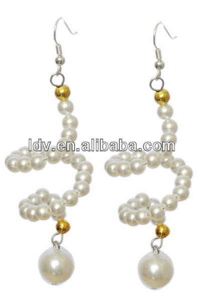 Custom jewelry dropshipping twisted pearl teardrop pendant earrings