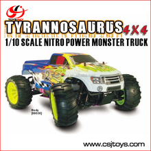 kids toys car 1/10 scale nitro rc car off road rc monster truck 4WD 4ch high speed buggy