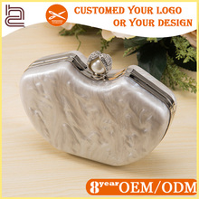 2017 New Amerian Fashion Acrylic Marble Pattern Wedding Dress Shoes and Clutch Matching Bag,Ladies Italian Shoes and Bag Set