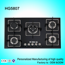 Promotional price gas stove with glass top