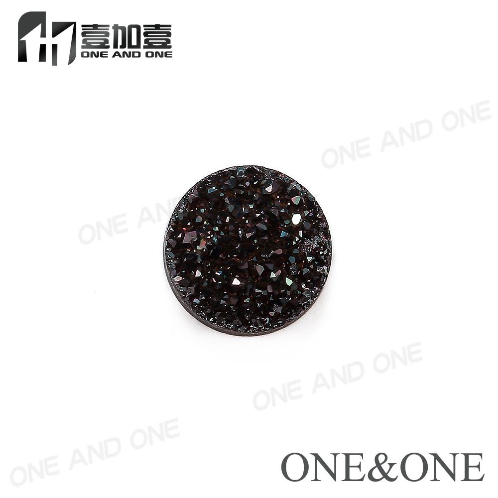 2017 Natural Agate Druzy Stone Round 6mm Drusy Bead Black Agate Stone High Quality