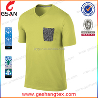 Men's Custom t shirt printing bamboo v-neck t-shirts