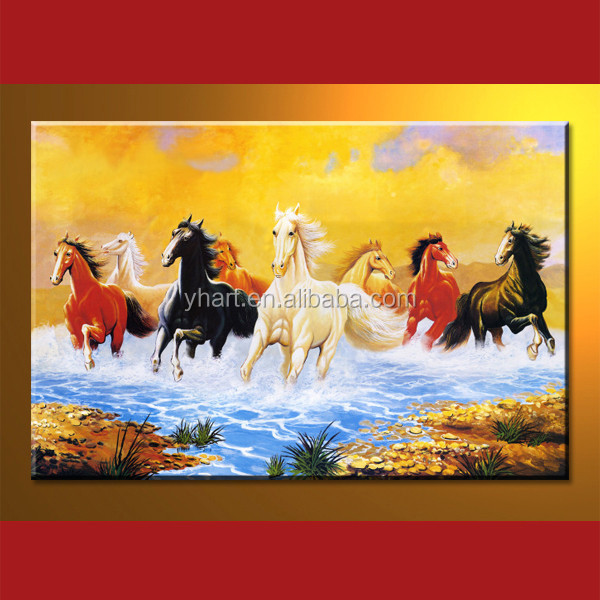 Wholesale handmade famous 8 horses paintings