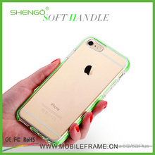 Shenzhen Wholesale Durable PC TPU Transparent Shockproof Case for Samsung a8,Fashion Colorful Anti-Skid Phone Case for iPhone 7