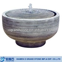 round water features decorative indoor stone water fountain
