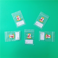 customer logo mini ziplock plastic bag/ziplock plastic bag,Zipper Plastic Bag