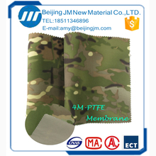 in stock best-selling high quality polyamide tricot with ePTFE membrane twill camo fabric