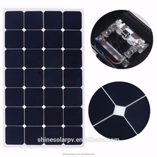 High efficiency photovoltaic cells motorhome caravans flexible solar panel 80w 100w 120w for sale