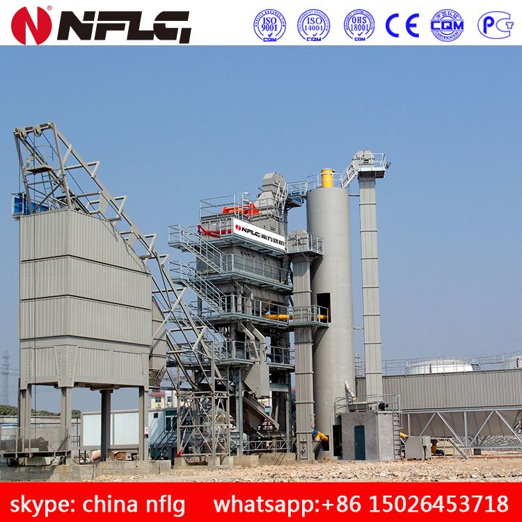 Road construction machinery stationary bitumen mixing plant with large capacity