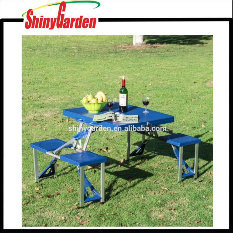 Fashionable Portable Outdoor Heights Adjustable Folding Camping Suitcase Picnic Table