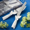 Wedding cake knife butterfly design cake knife server set