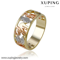 14078 three color fake gold finger rings without stones women