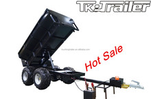 Dump Trailer with Hydraulic Cylinder and Power Unit Powder Coated Tandem Tipper Trailer