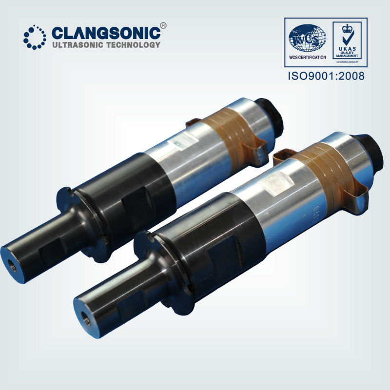 piezoelectric ultrasonic welding transducer manufacturer for plastic metail and non woven welding