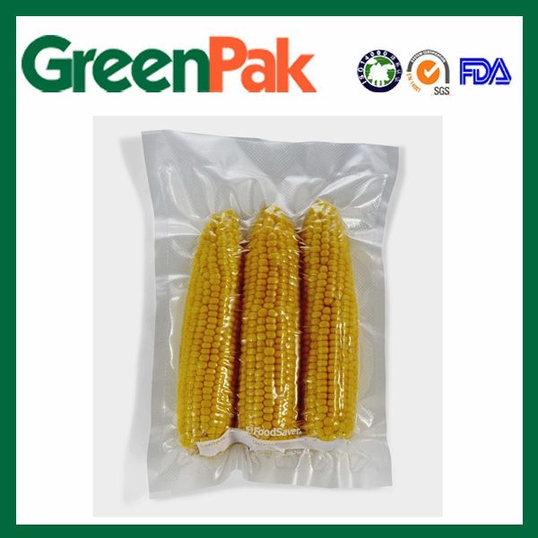 PA PE high barrier clear sweet corn pouch