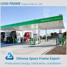 Wind resistant design steel petrol station