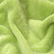 high quality soft flannel fleece fabric material for garment or home textile