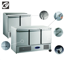 three swing door preparation cabinet stainless steel lift up lid with counter top are used to prevent reversal of water