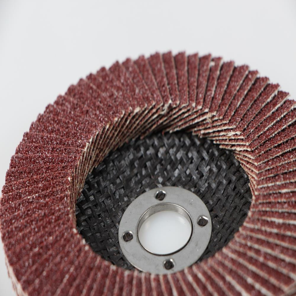 4-7 inch aluminum Oxide Flap Disc with Fiberglass backing plate