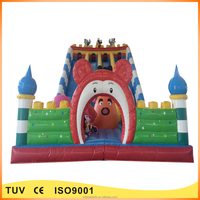 Hot sale Micky and Donald inflatable combo with bouncer and slide for kids