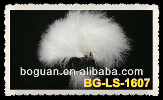 White PREMIUM BLOOD QUILL MARABOU FEATHERS