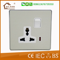 Good Price aluminum Material 13A Power Socket Switches With Neon,CE,SASO,IEC,CE approved