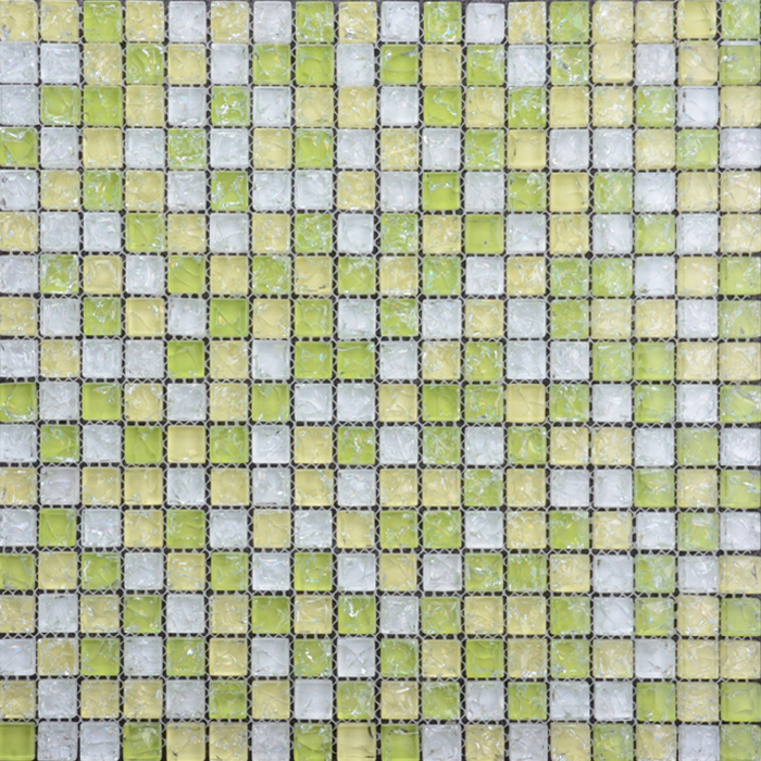 Mixed square broken crystal glass mosaic tile
