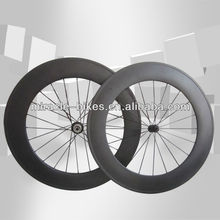Tubular 88mm chinese carbon road bike wheels,red/black/white hub road carbon bike wheels
