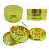 4 layers cigarette Grinder hand Muller gold Promotion Alloy metal CNC herb grinder 3 layer tobacco grinder crusher gadgets