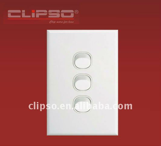 (CLSW3/V) Australian Standard Slim 3 Gang Wall Switch Vertical