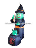 7ft Halloween giant inflatable witch outdoor